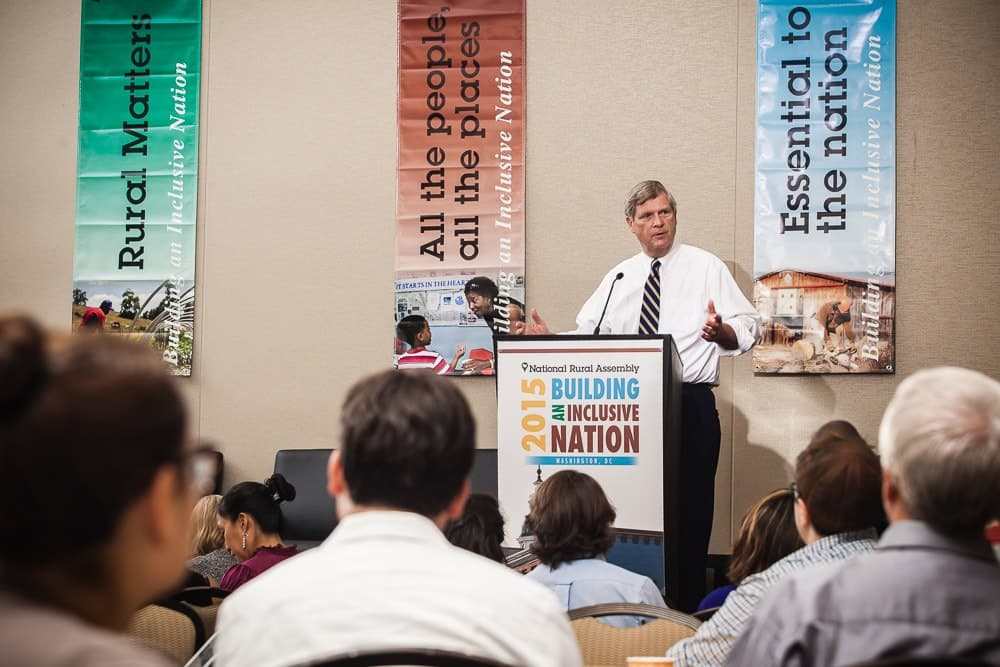 Secretary of Agriculture Tom Vilsack addresses the National Rural Assembly.