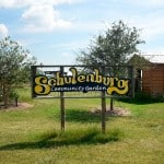The Schulenburg community garden in  Schulenburg, Texas, where the author teaches. Photo by Audrey Wick.