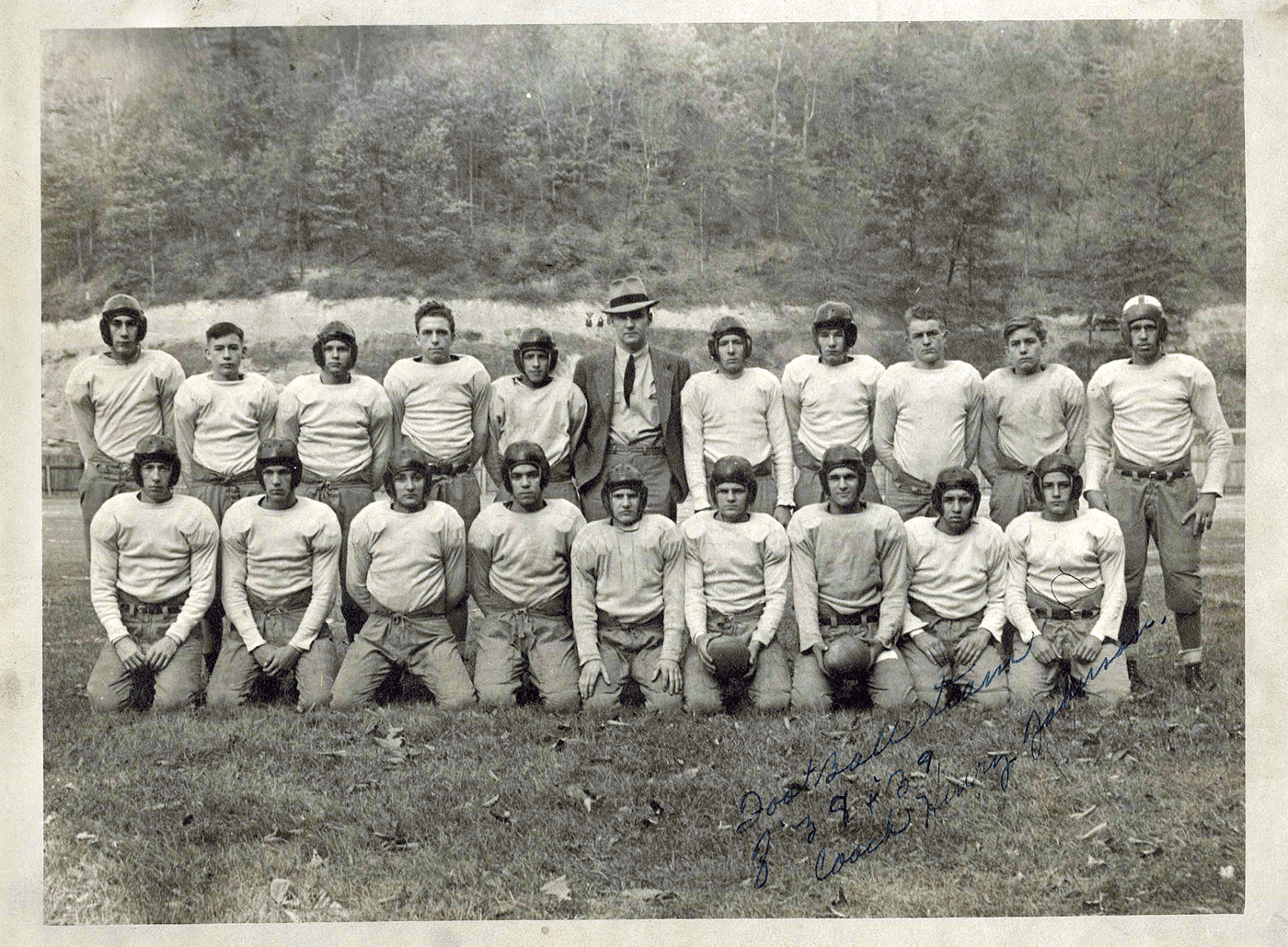 The 1938-9 Dante Central High School football team seems to be one of Southwest Virginia's first integrated sports teams.