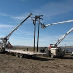 Line work being done by Malta, Idaho-based Raft River Rural Electric Co-op.