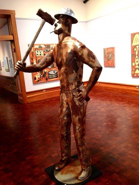 A sculpture by Joe Barrington.