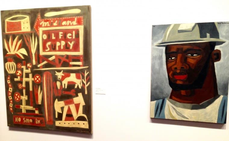 Two paintings by artist Jon Fleming.