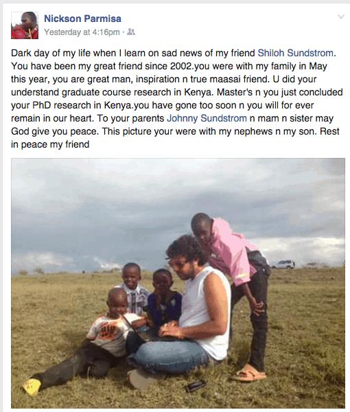 Facebook shot Shiloh and Maasai