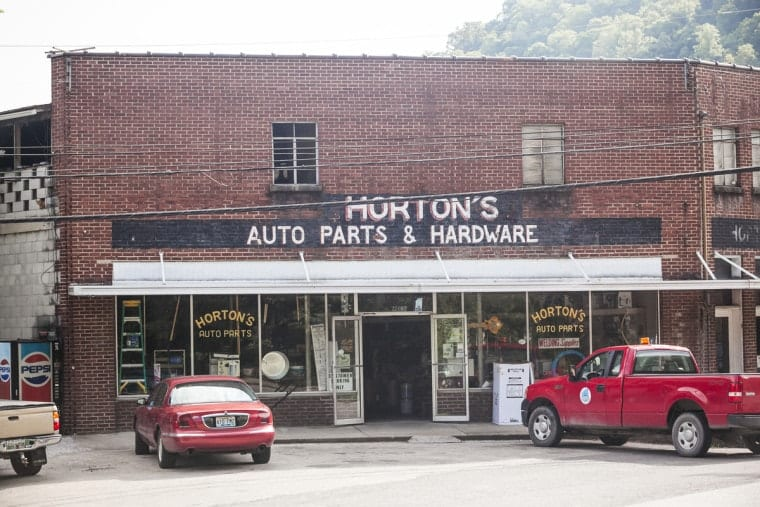 Drive your truck to the auto parts store, where you can buy the stuff you'll need to fix your mower. Photo by Shawn Poynter.