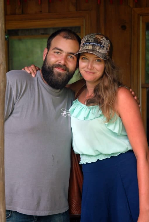 Josh May of Appalshop, left, and Savannah Barret of Art of the Rural.