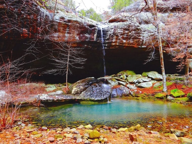 Jackon Hole Falls in southern Illinois' Shawnee National Forest. Photo via the Springhouse Magazine Facebook Page.