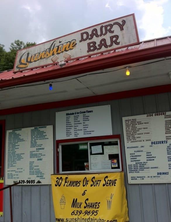 The Sunshine Dairy Bar, near Pikeville, Kentucky.