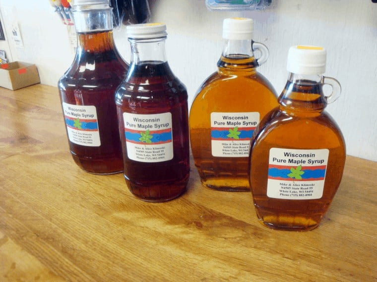 Pure maple syrup from northern Wisconsin.