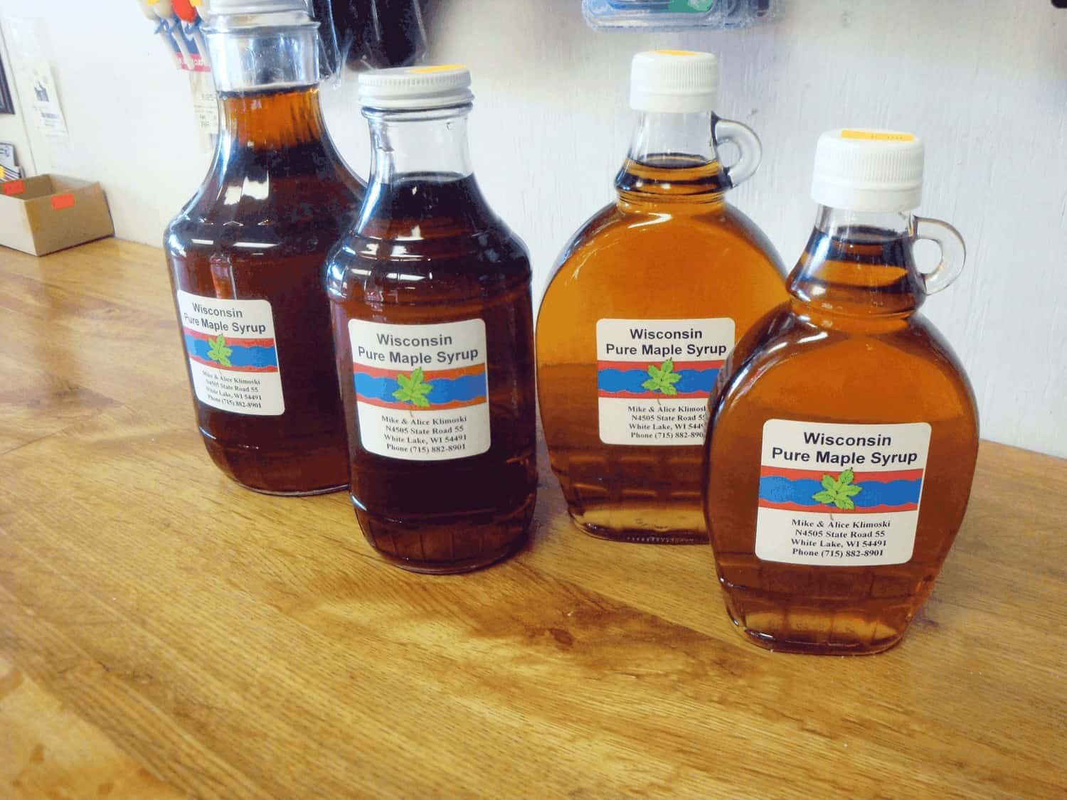 1 – pure maple syrup