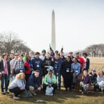 The Rural Caucus team poses in front of the Washington Monument. Photo by Shawn Poynter/Daily Yonder