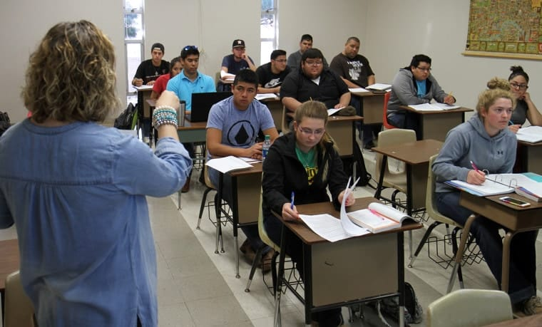 A class at Southwest Texas Junior College (Photo courtesy of STJC)