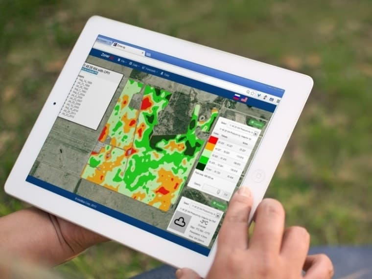 One example of a precision agriculture system.