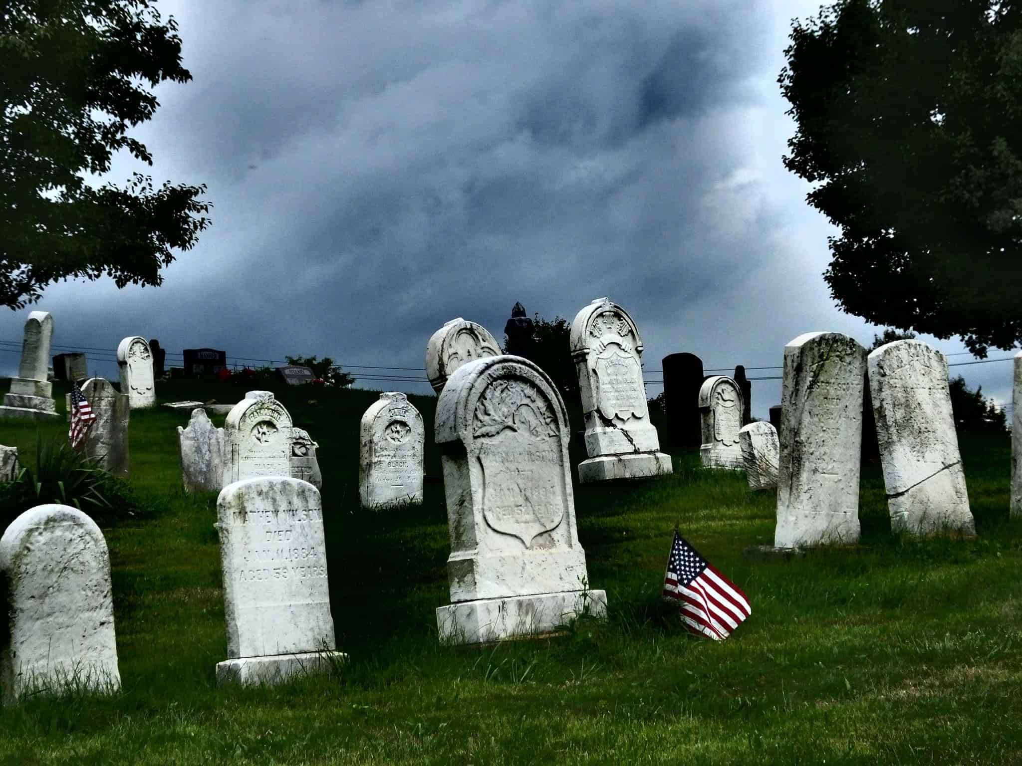 A cemetery in Monroeville, Pennsylvania. Photo by Cam Miller/Flickr