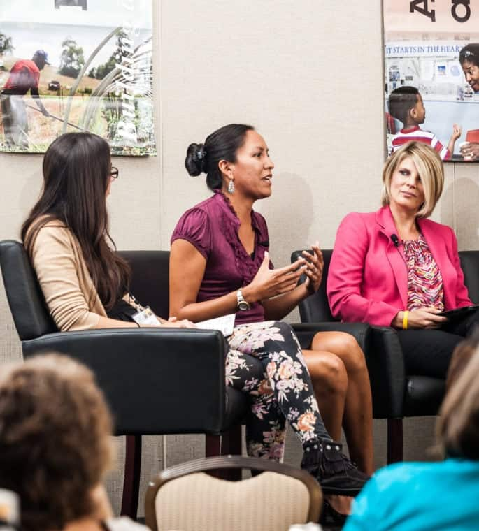 Philan sits on a panel of next generation of rural leaders at the 2015 National Rural Assembly gathering in Washington, D.C.. Photo by Shawn Poynter