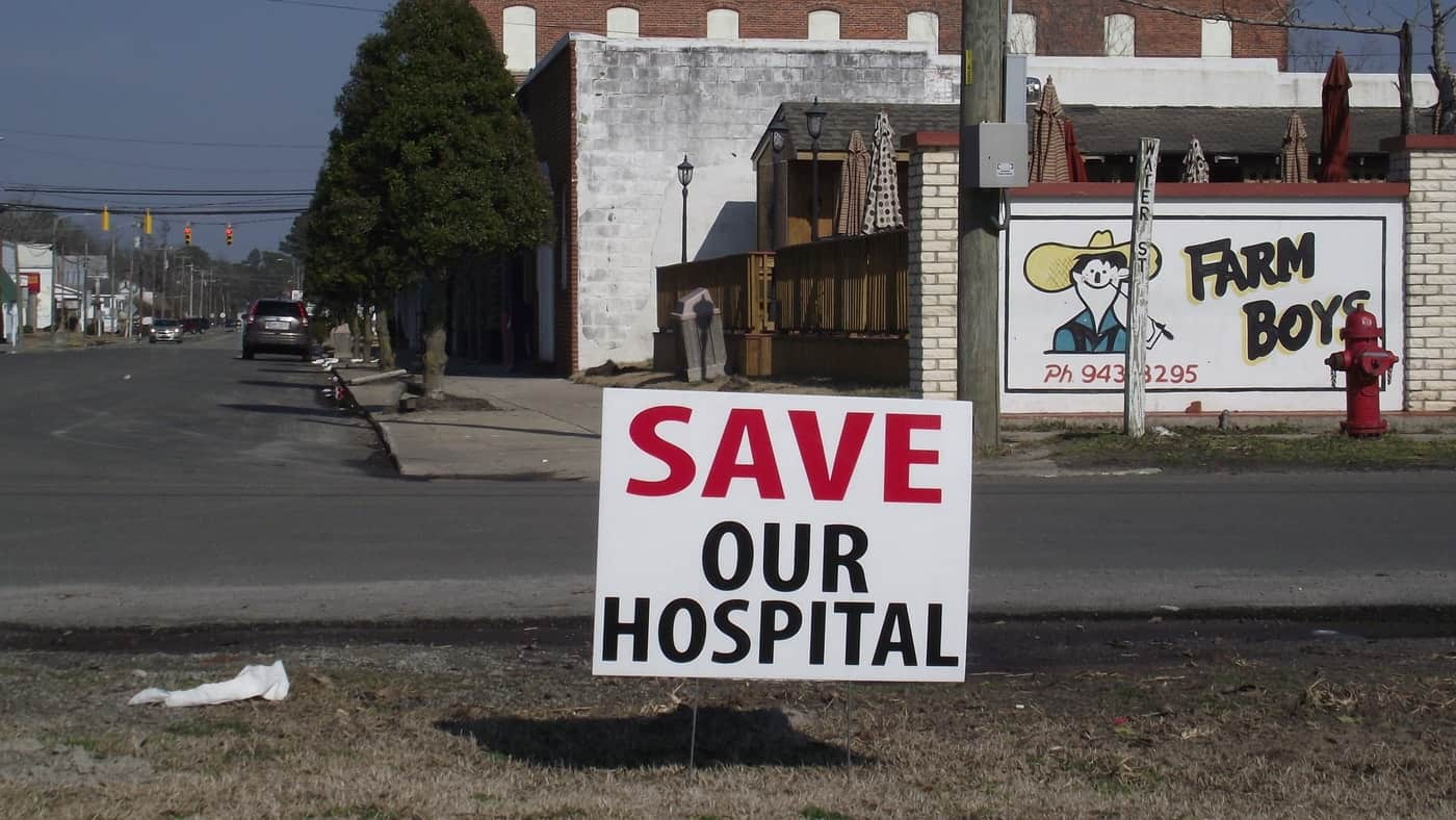 Residents fear that the economy of Belhaven, North Carolina, will collapse because its hospital closed. Photo by Hyun Namkoong