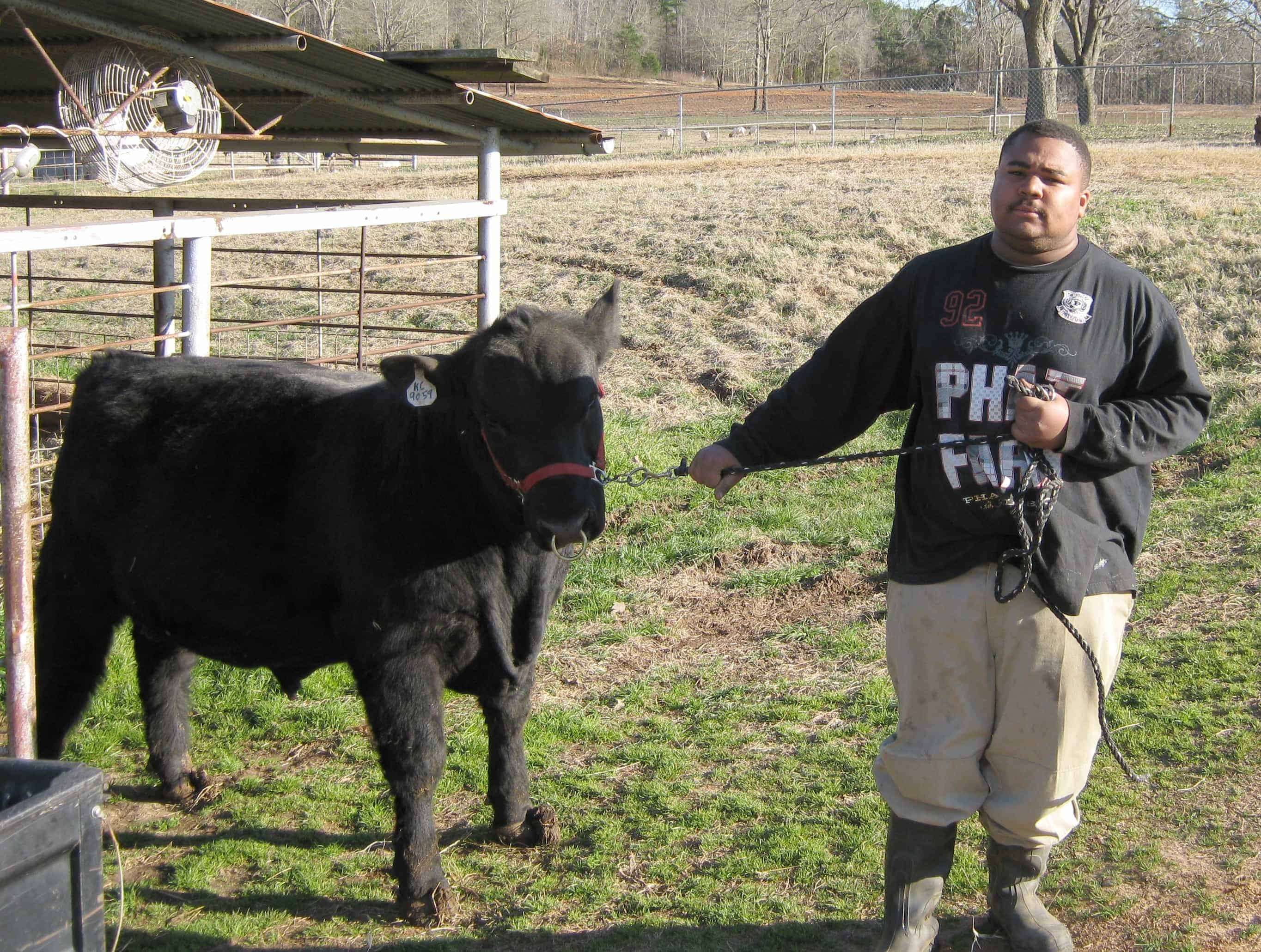 "Jerome D. Jones grew up in a suburb of the Dallas/Fort Worth ""Metroplex,"" but he's been working with animals since high school. Now he's working on Kilgore's demonstration farm and is contemplating a future in ag."