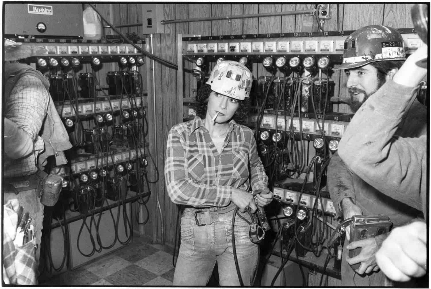 Woman Coal Miner Getting Ready for the Shift.  Consol Westland #2 Mine, Pennsylvania. All photos by Ted Wathen
