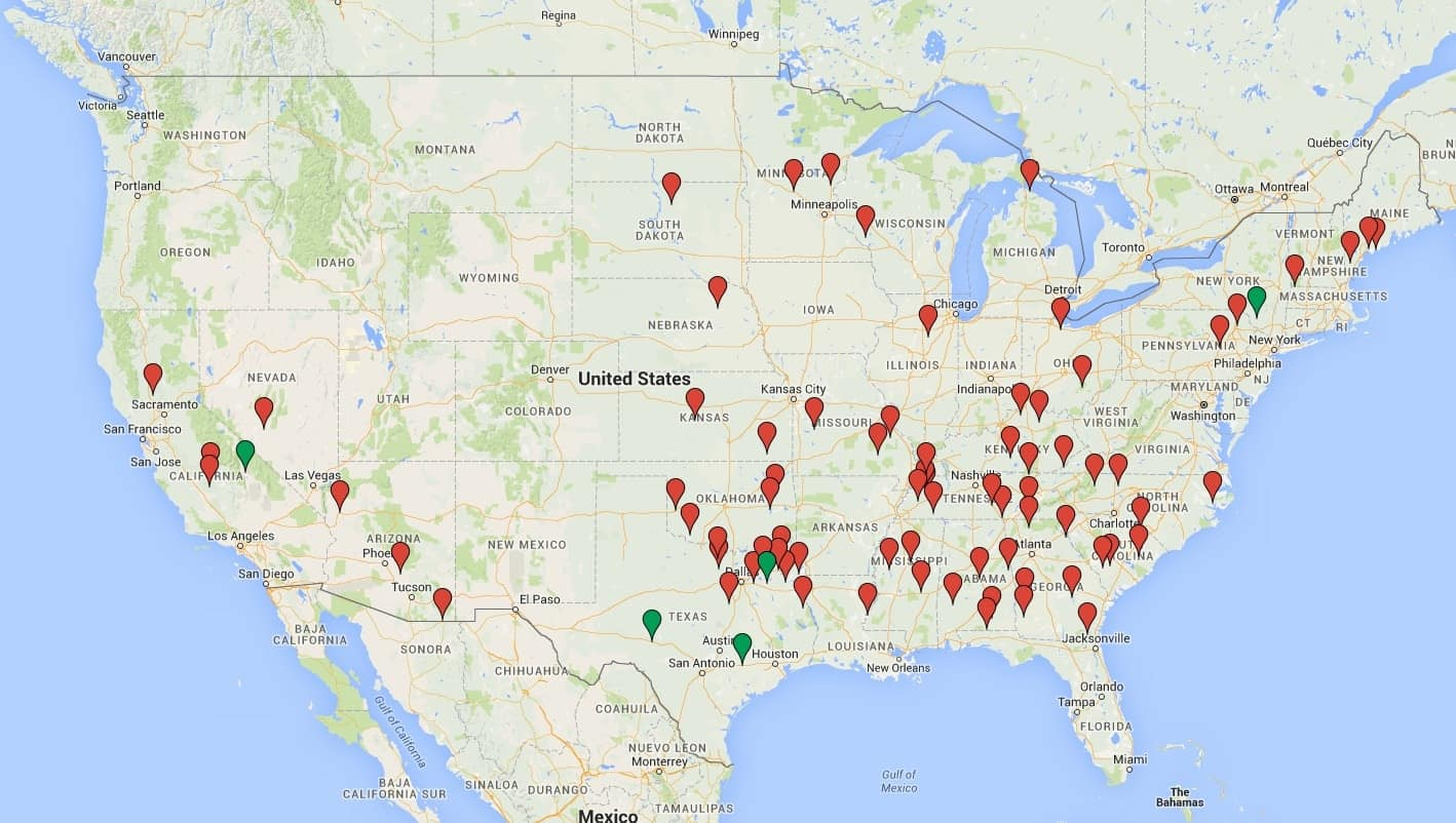 Map Of California Hospitals.Corporate Business Plans Not Local Need Drive Hospital Closures