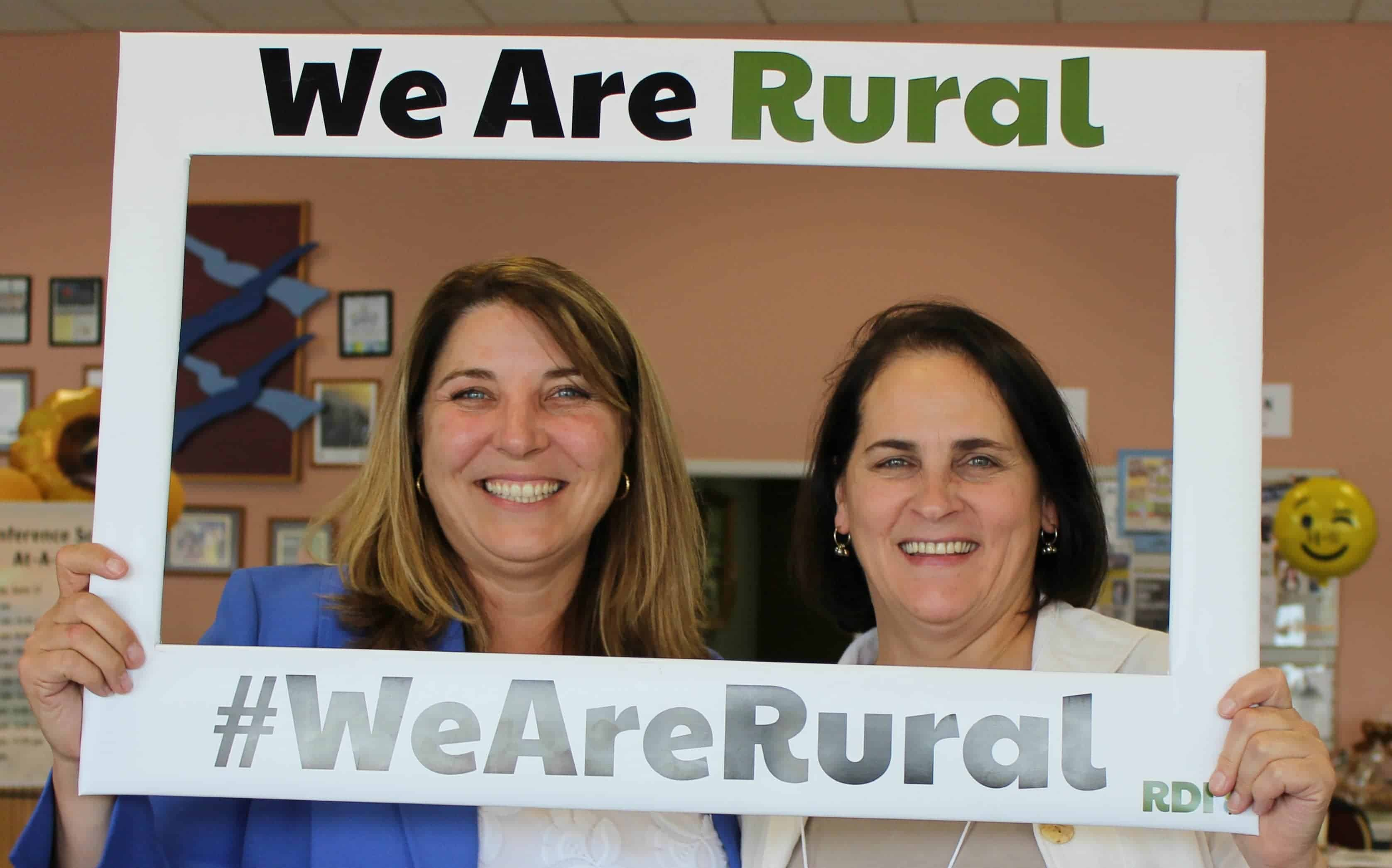 RDI's Acting Executive Director (and author of this article) Heidi Khokhar with USDA Rural Development Oregon State Director Vicki Walker at the Embracing Our Treasure conference in Ontario, Oregon.