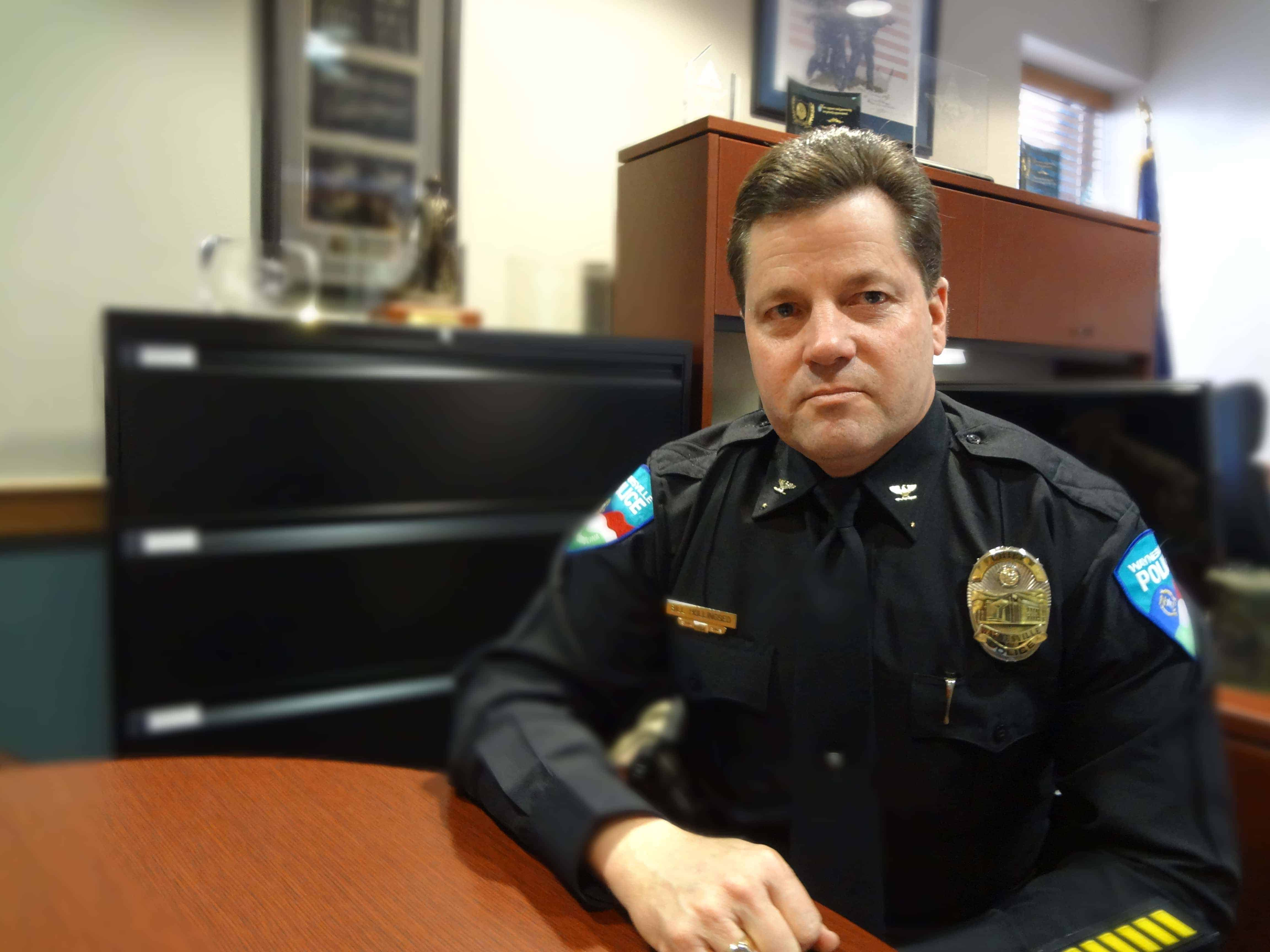 """Waynesville, North Carolina, Police Chief Bill Hollingsed said the drug death of an 18-month-old girl caused him to think about new approaches to fighting opioids. """"How can you witness this ... and not say, 'We've got to make a change. We've got to make a difference.'"""" (Photo by Taylor Sisk)"""