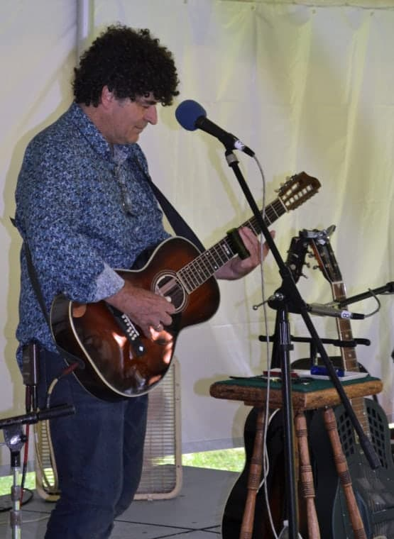 Chris Vallillo, shown performing at the 2016 event, was a driving force behind reviving the Bishop Hill festival. (Photo by Timothy Collins)