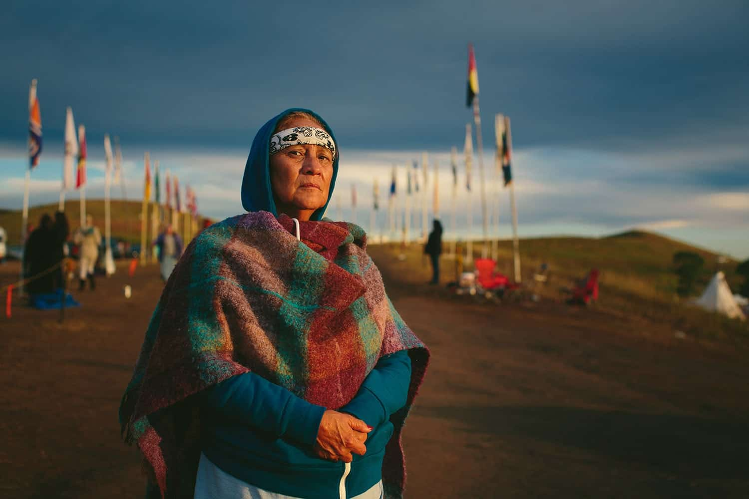 """Shirley Romero Otero is a Chicana activist from San Luis, the oldest indigenous community in the state of Colorado. An heir to the Sangre de Cristo Land Grant, her community is dealing with its own fight for water. """"When we heard about this particular struggle, our hearts pulled us this way because the next battle after losing our land is truly the fight for water,"""" she said."""