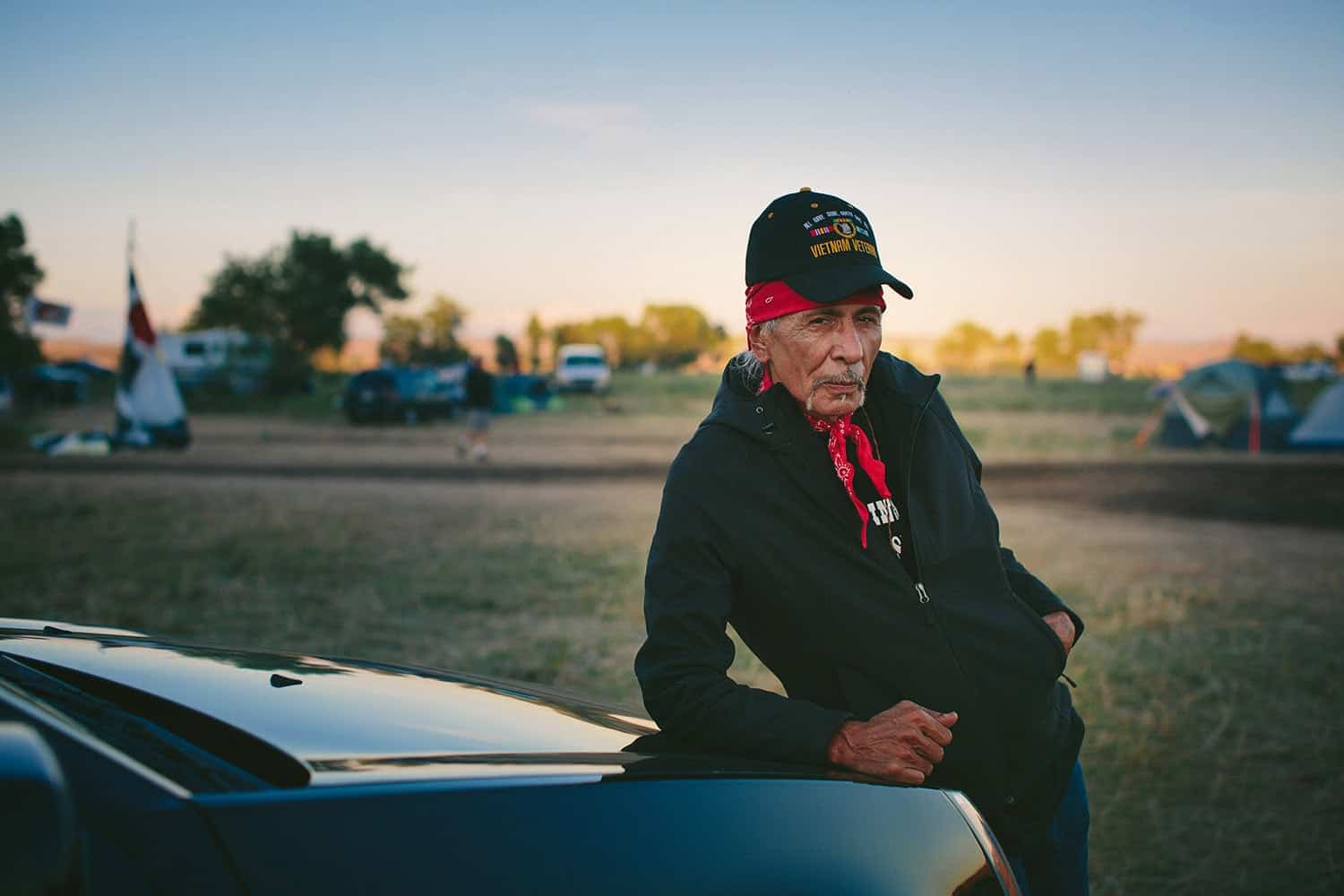 "Apesanahkwat spent 30 years as the Chairman of the Menominee Indian Tribe of Wisconsin. ""It wasn't something I chose when I came home from Vietnam,"" he said, but it launched him into a career in Washington, D.C., which is near where he now lives. When he heard of the events in North Dakota, he felt compelled to drive to the Sacred Stone camp. ""All of these things that are happening are incredibly beautiful,"" he said."