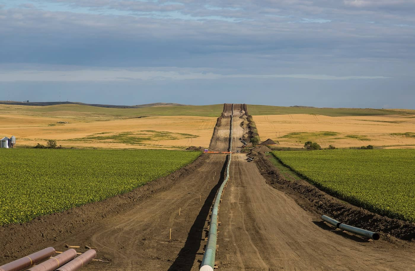 The Dakota Access Pipeline under construction in August, as seen near New Salem, North Dakota. Photo by Tony Webster/Flickr