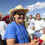 "Henry Red Cloud is running for South Dakota Public Utilities Commission as a Democrat. He will visit the Sacred Stone Camp and bring with him solar lighting equipment. He says: ""We simply have to stop accepting and approving poorly planned and disastrous projects like this."" Photo via Lakota Solar Energy"