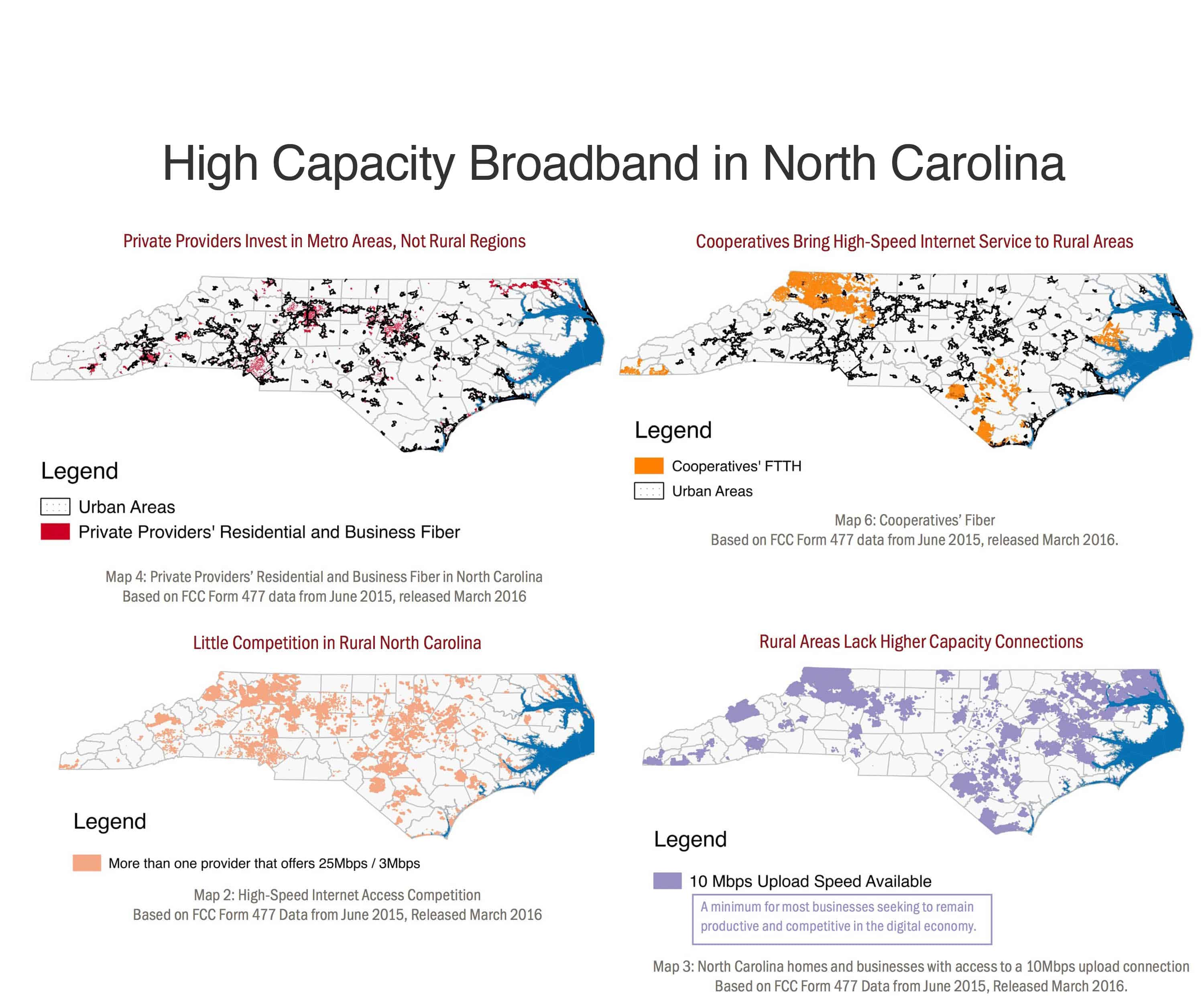 Maps created by the Institute for Local Self-Reliance from FCC data.