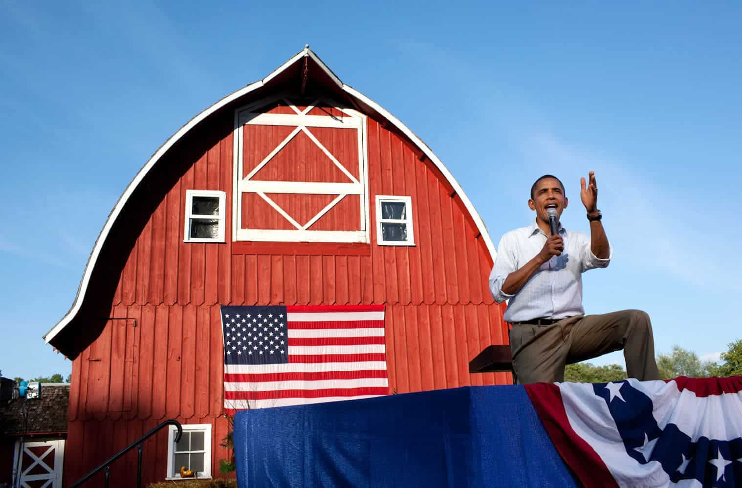 President Barack Obama holds a town hall meeting at the Seed Savers Exchange in Decorah, Iowa, in 2011. Photo by Pete Souza/White House