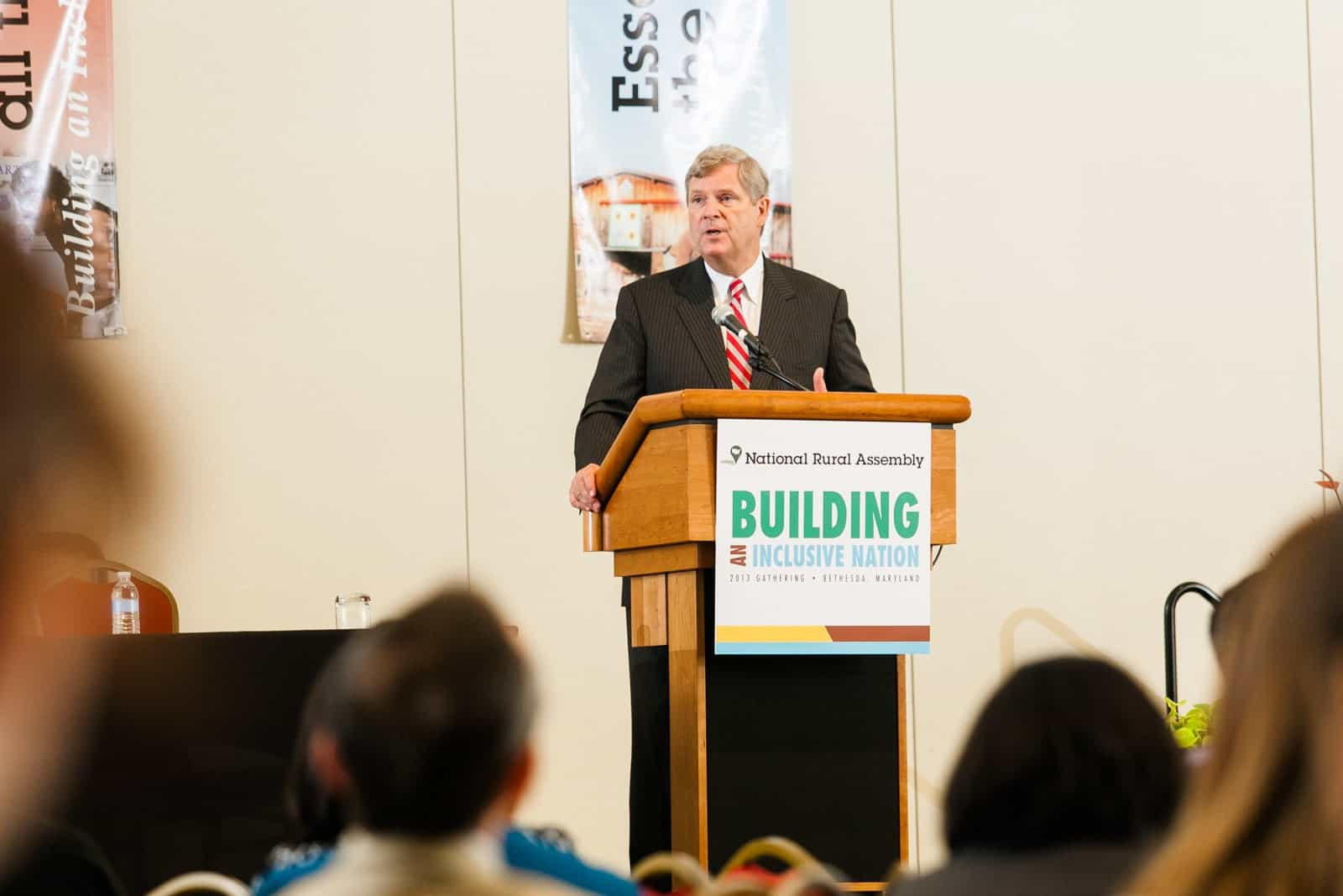 Agriculture Secretary Tom Vilsack addresses the 2013 National Rural Assembly in Washington, D.C. He is the only Cabinet member to have served both terms in the Obama administration. (Daily Yonder photo by Shawn Poynter)