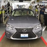 A Lexus rolls of the line at the Toyota plant in Georgetown, Kentucky. Photo by Joseph Rey Au