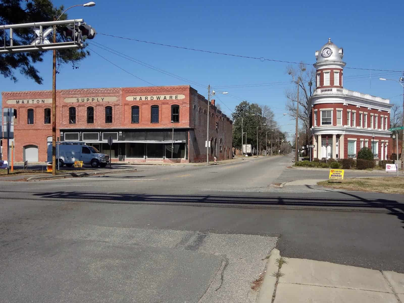 Downtown Maxton, North Carolina.