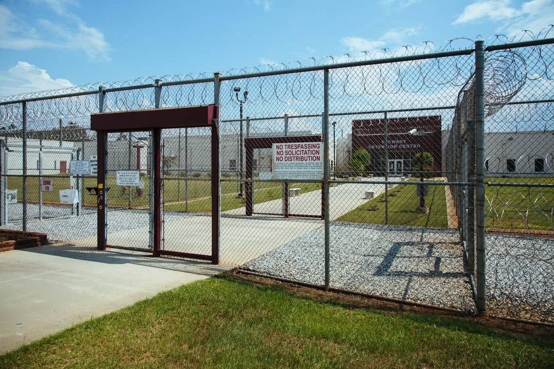 The Stewart Detention Center in Lumpkin, Ga., has the highest deportation rate in the country. Photo by Audra Melton for the Marshall Project