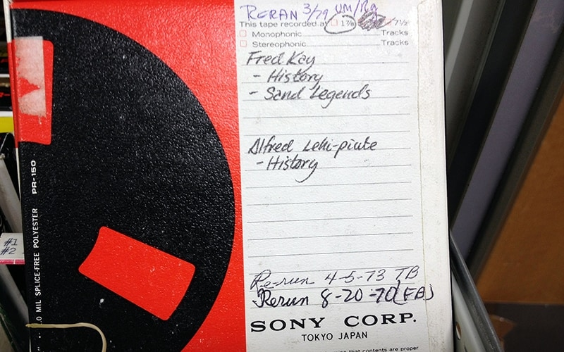 Navajo historians and librarians say no one has ever fully cataloged the tapes, but the parts they have listened to are a trove of tribal history and culture. (Photo by Irving Nelson/Navajo Nation Library)