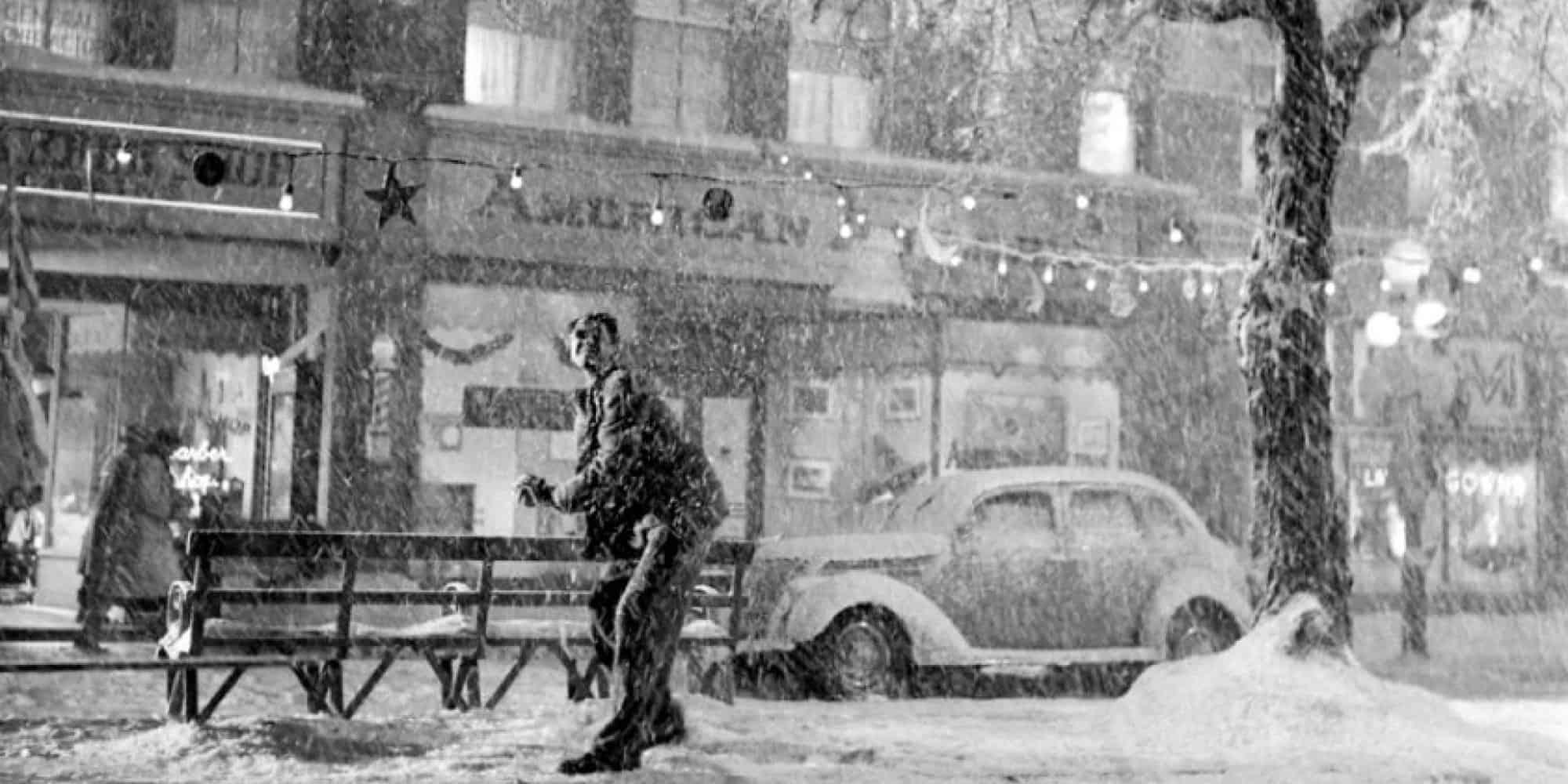"Jimmy Stewart as George Bailey is ""It's a Wonderful Life."""