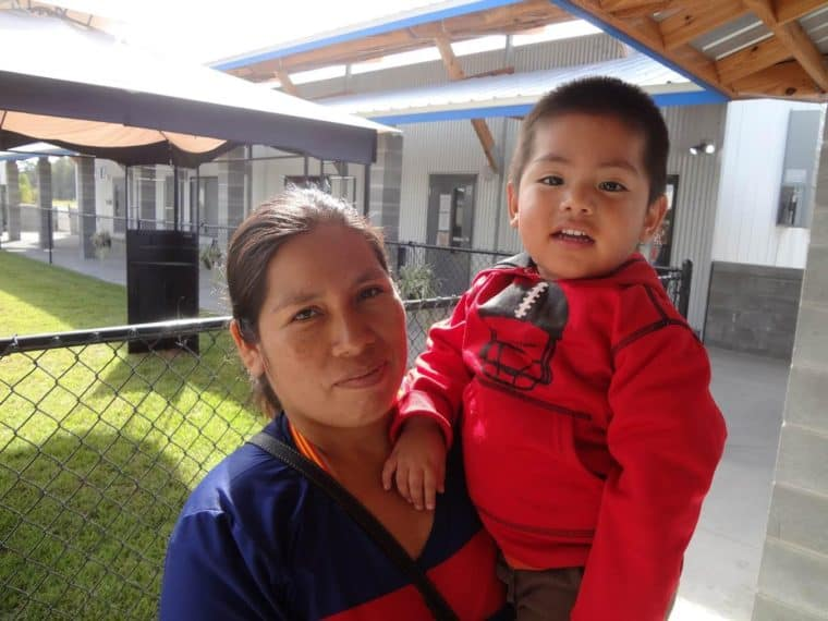 Hildegarda Toledo Flores has high ambitions for her son Alexis, 2.