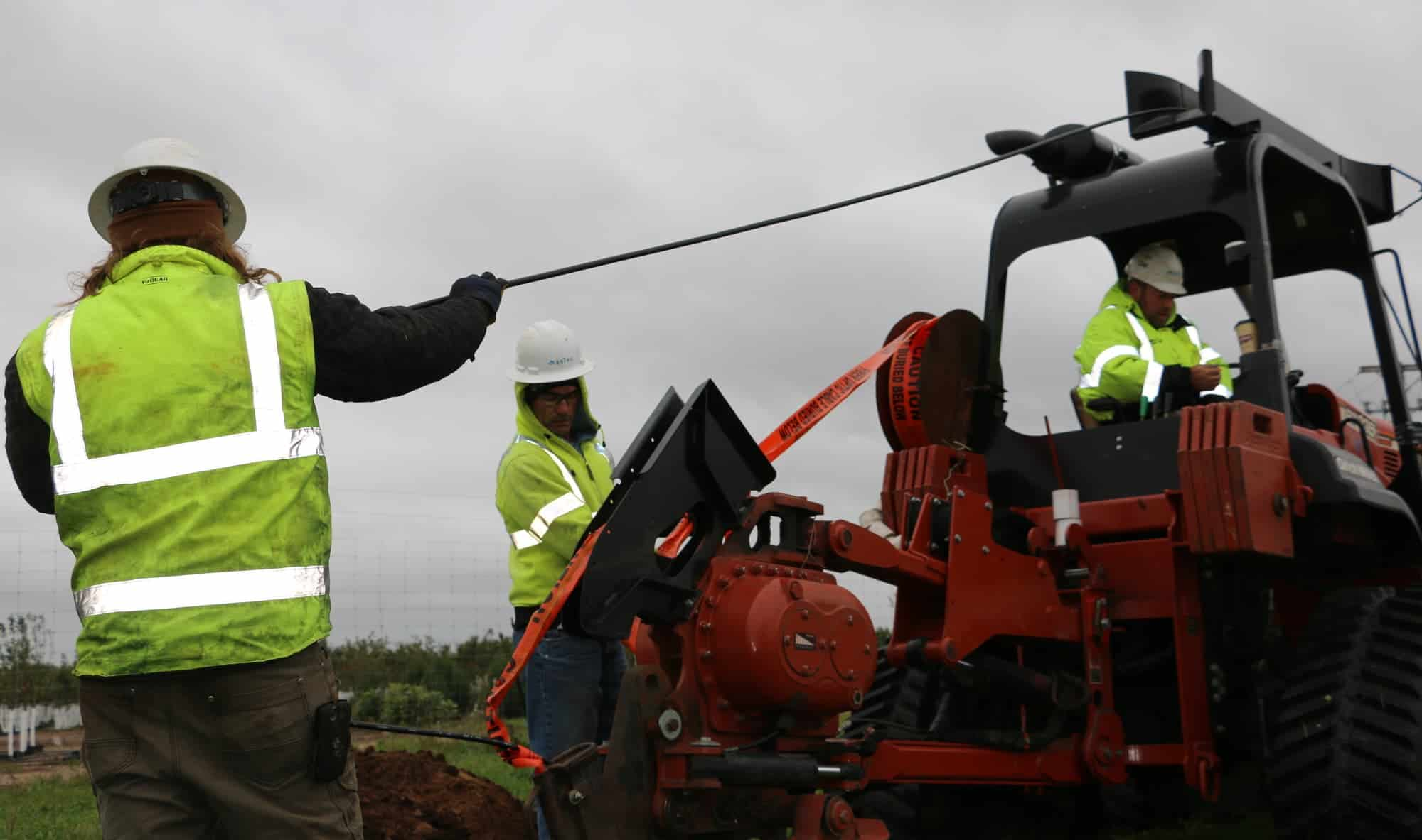 Hiawatha Broadband employees installed fiber optic cable near Hastings in an effort to bring high-speed internet connectivity to more rural areas in Dakota County.