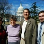The author, Allan Sents, middle right, after a day on Capitol Hill in February lobbying on behalf of changes in meat-market rules. Also pictured are (left) Lia Biondo, U.S. Cattlemen's Association policy & communications coordinator; Deanna Sents, wife of Allan Sents; and (right) Jordan Ebert, USCA policy & research fellow.