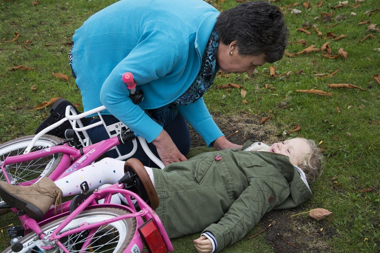 Bicycle Children Pain Cases First Aid Drive Child