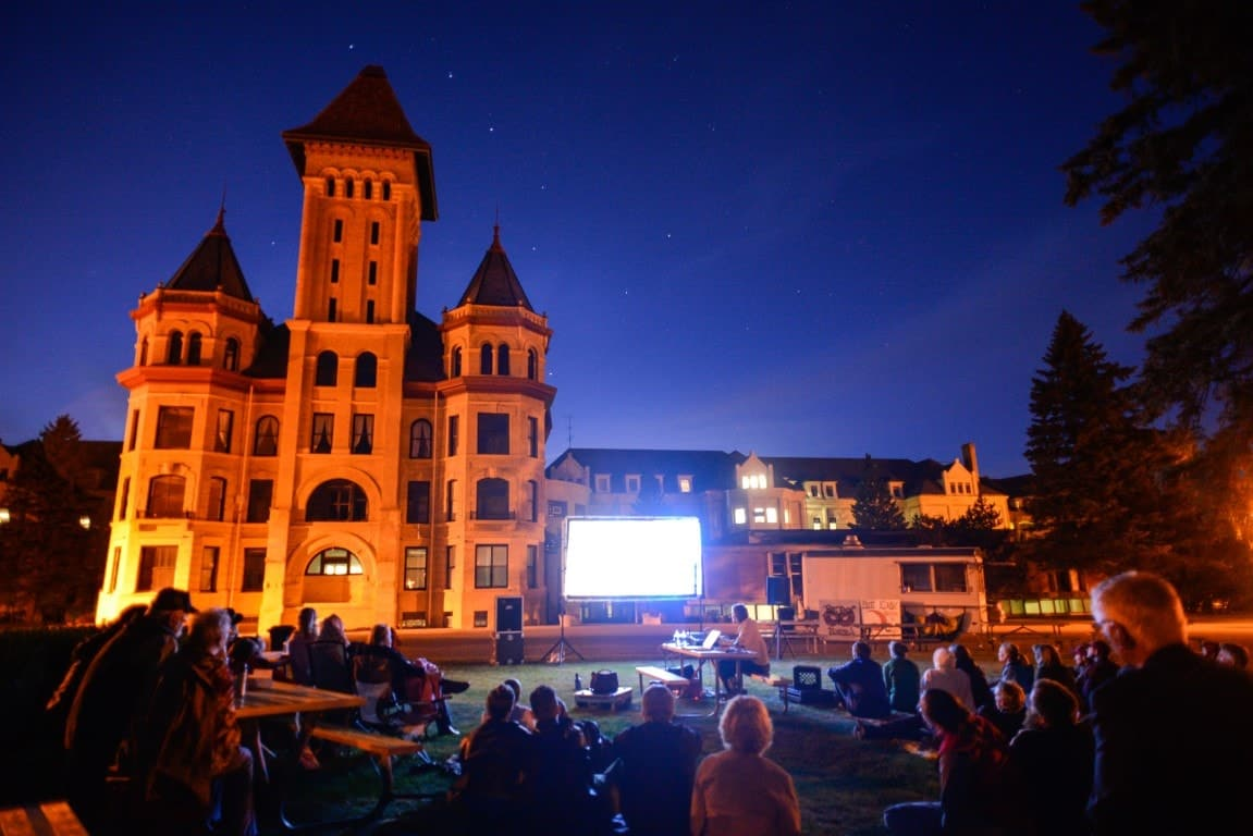 Kirkbride Arts and History Weekend outdoor movie theater – Photo by Rick Abbott (1)