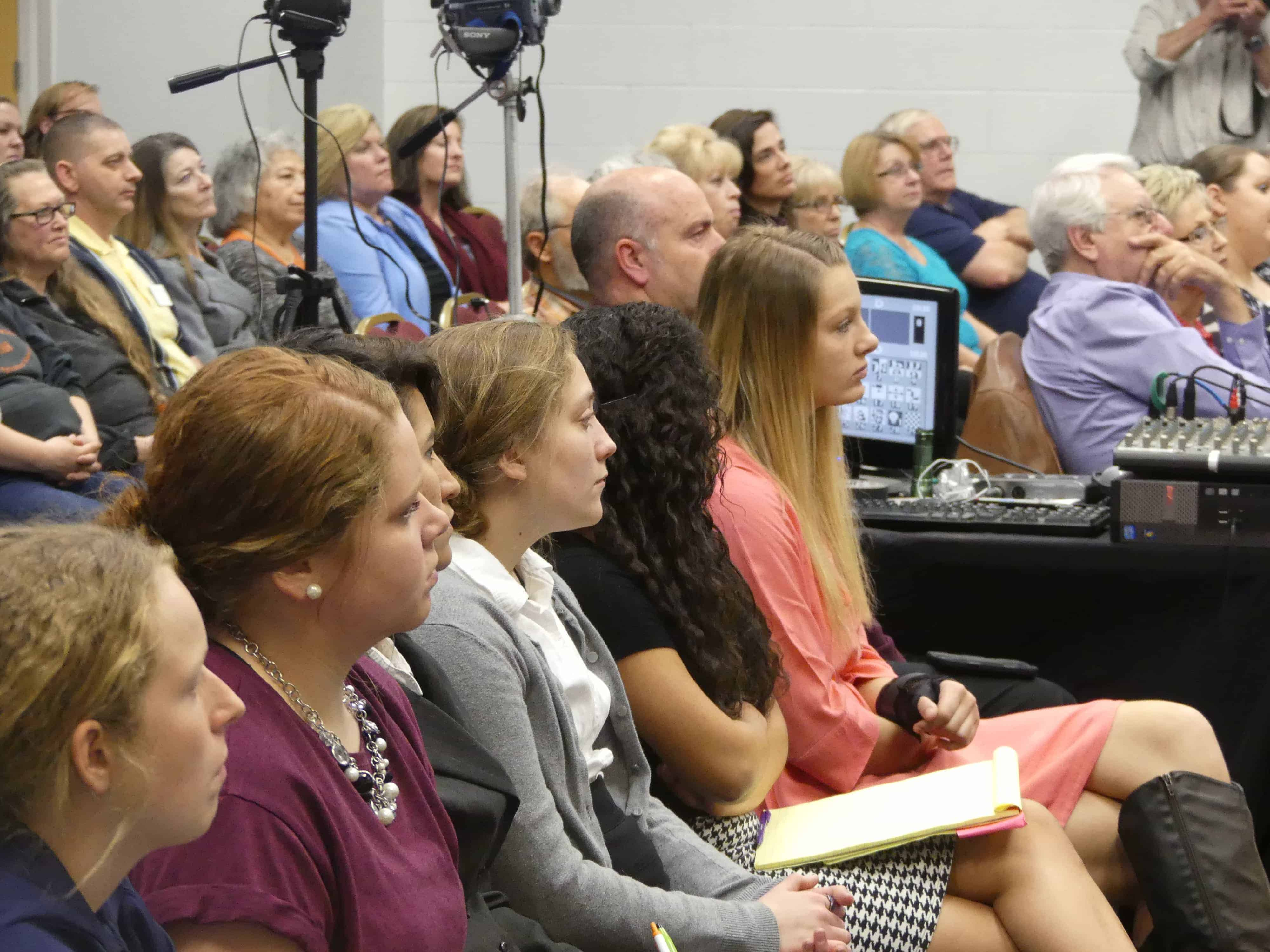 Town Hall-students listen