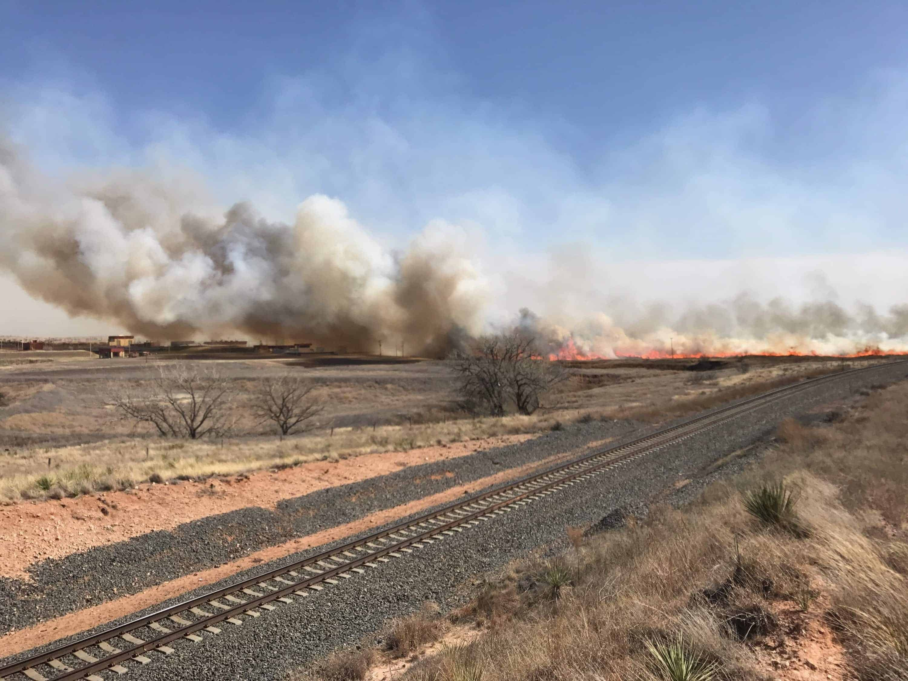 The Dumas Complex fire burned 28,800 acres in Texas. Catastrophic fires also raged in Kansas and Oklahoma. (Photo: Texas A&M Forest Service)