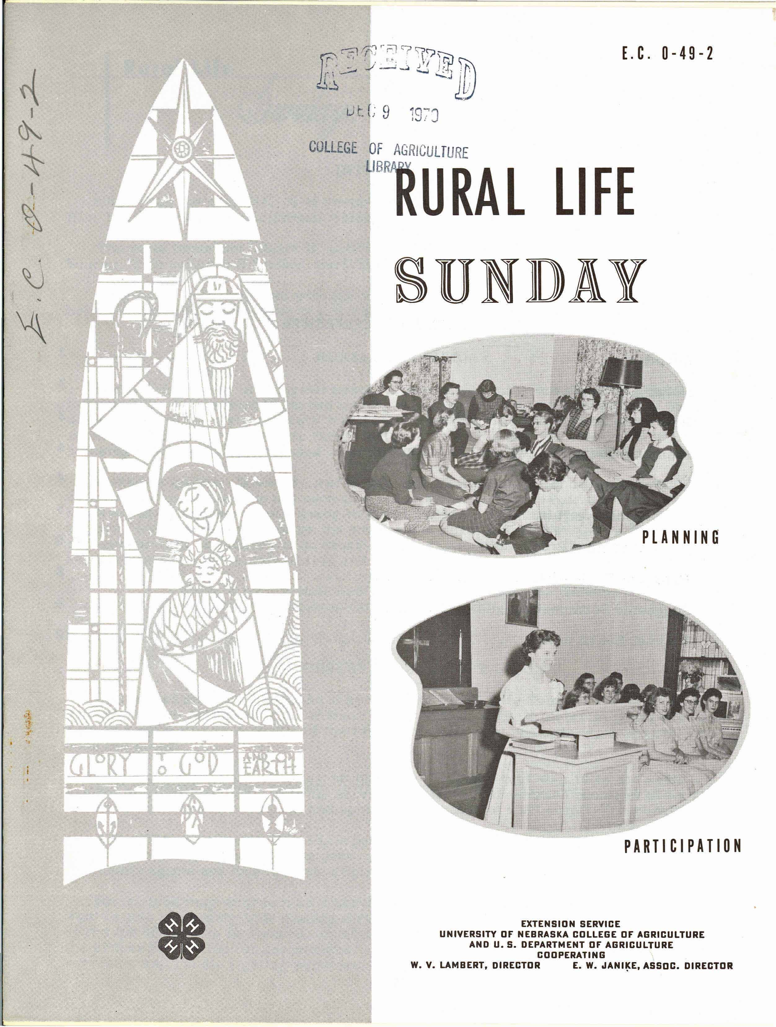 UNL 4H Church 1970