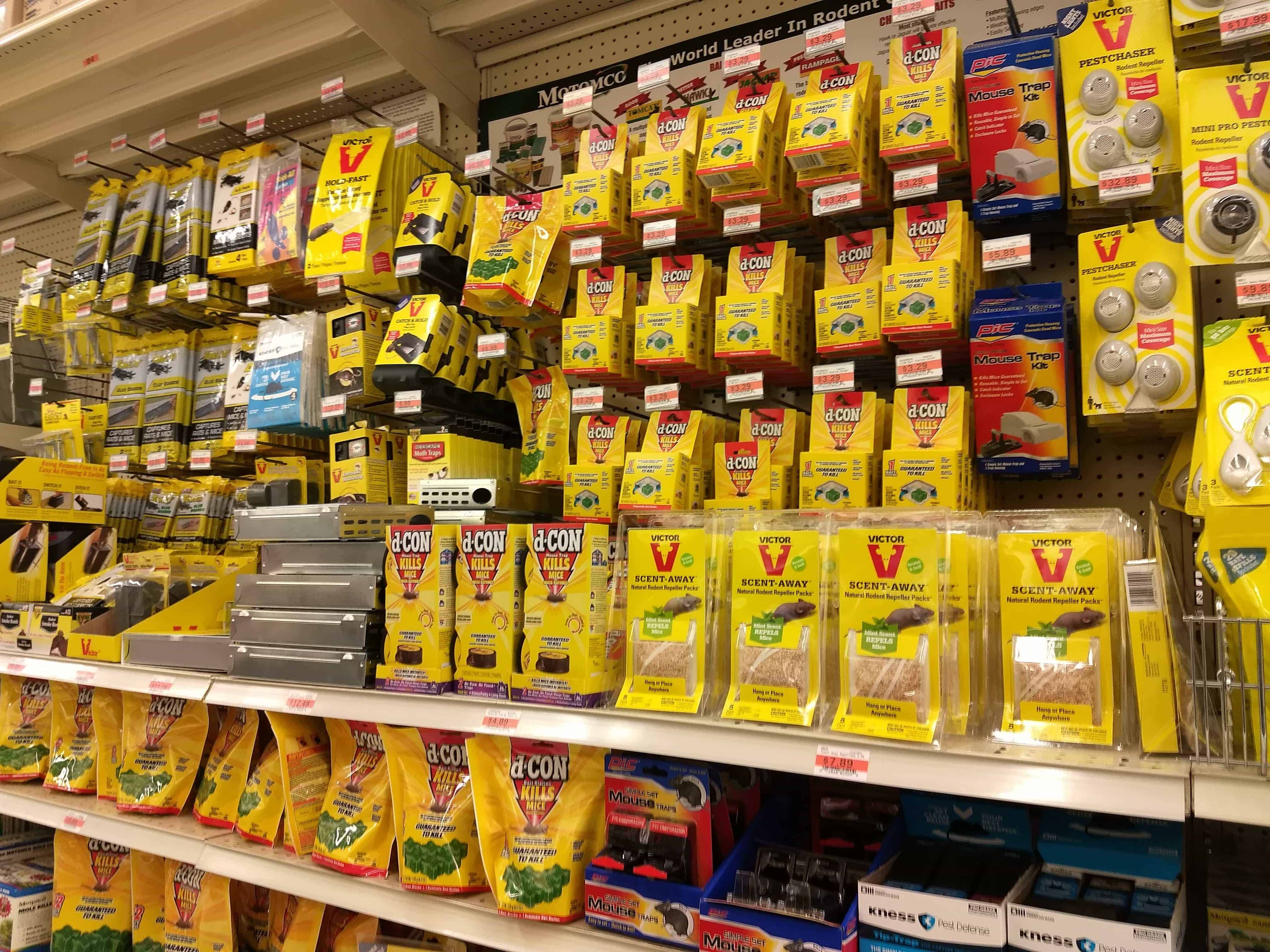 1 – Rodent control aisle at a rural farm and fleet supply store
