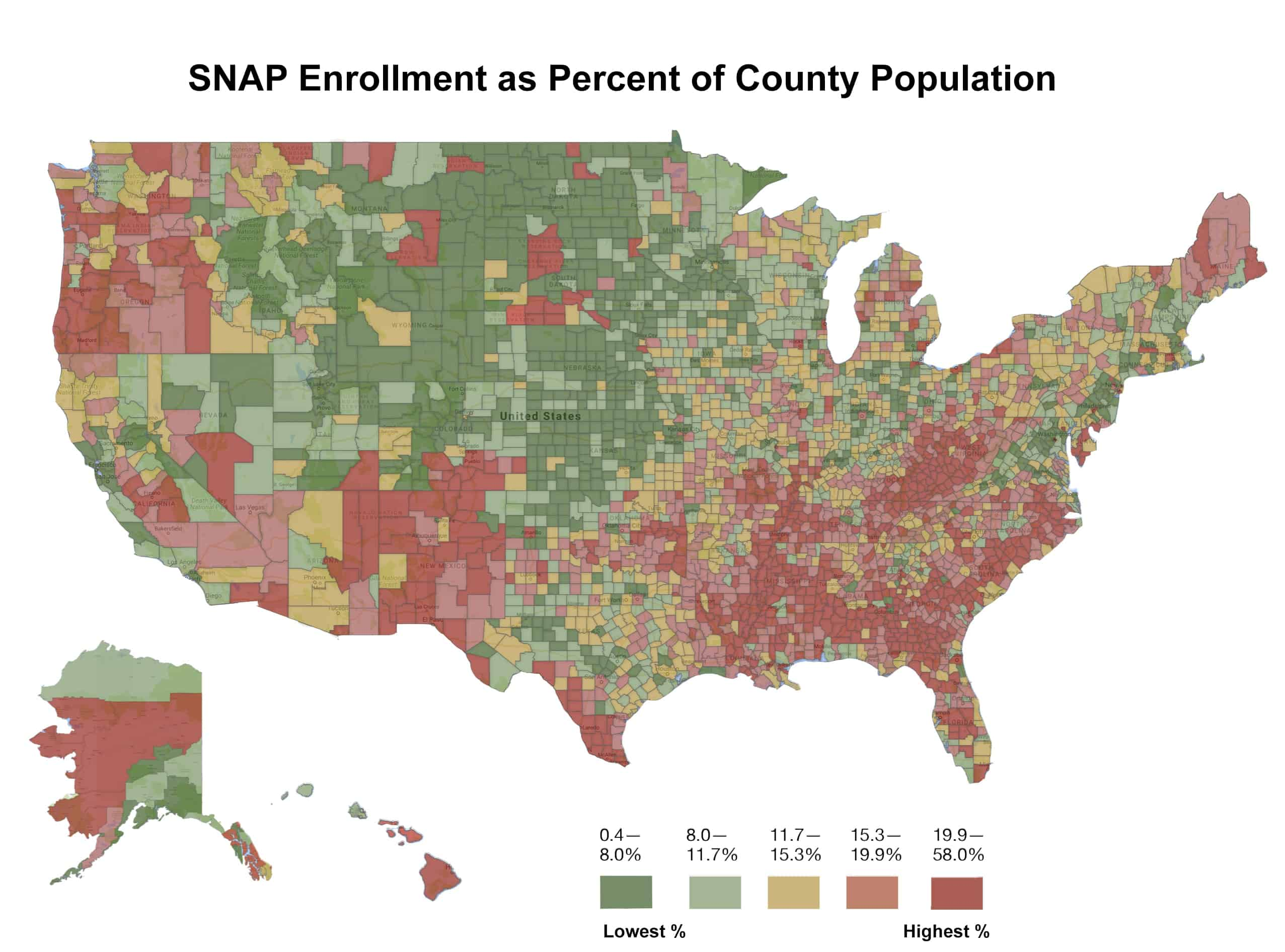 The Geography of Food Stamps - Daily Yonder