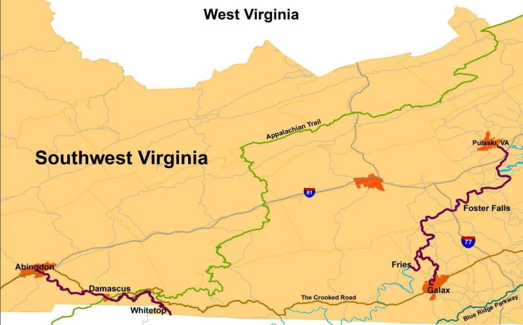 Trails in Southwest Virginia (Source: visitdamascus.org)