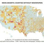 Counties without Newspapers