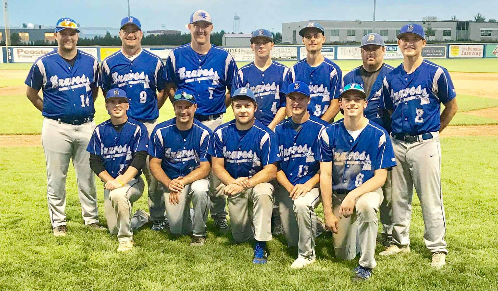 Bellevue Braves team photo posted August 2018 (via Facebook)